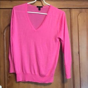 J Crew Hot Pink SZ M Lightweight wool sweater